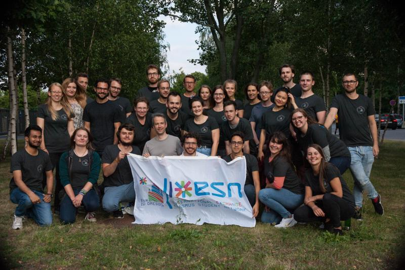 Group picture of the Team from ESN TU Dresden
